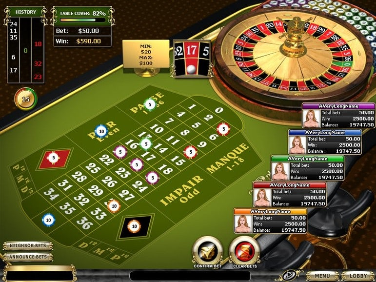 Roulette Wheel Table Image