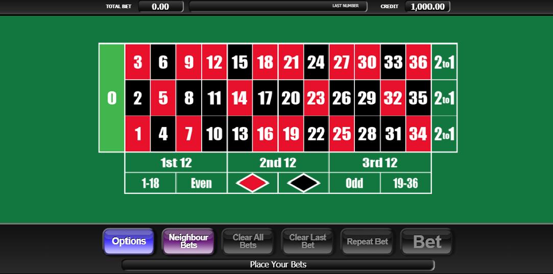 20p Roulette Casino Game
