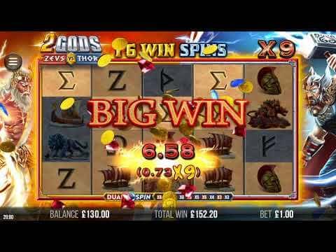 2 Gods Zeus vs Thor Big Win