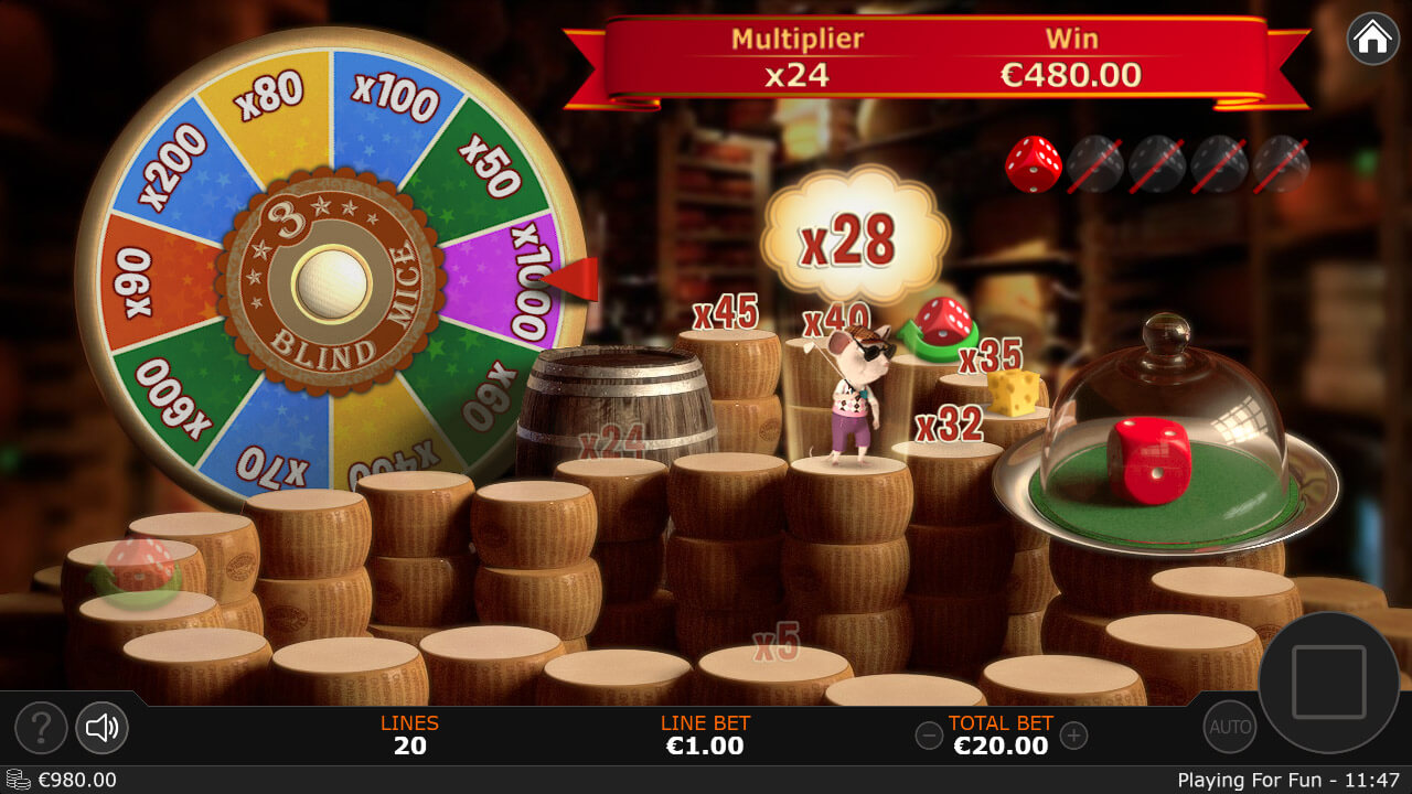 3 Blind Mice Slot Bonuses