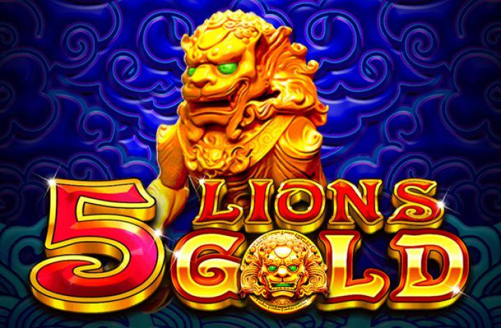 5 Lions Gold Slot Logo