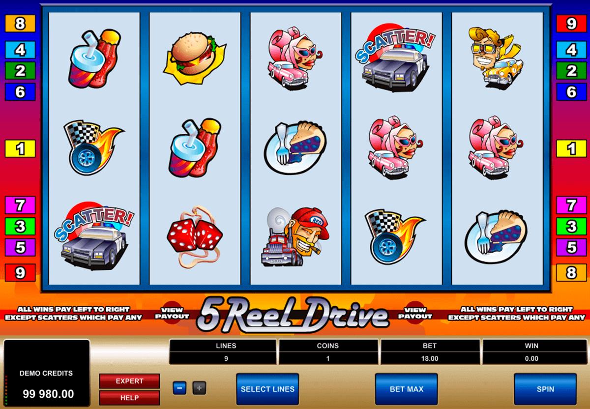 5 Reel Drive Slot Bonuses