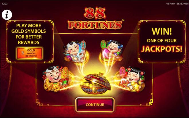 88 Fortunes Slot Bonuses