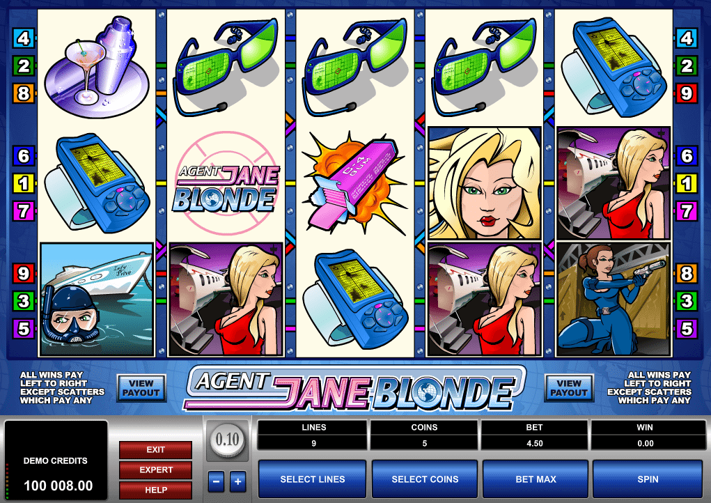 Agent Jane Blonde Slot Bonus