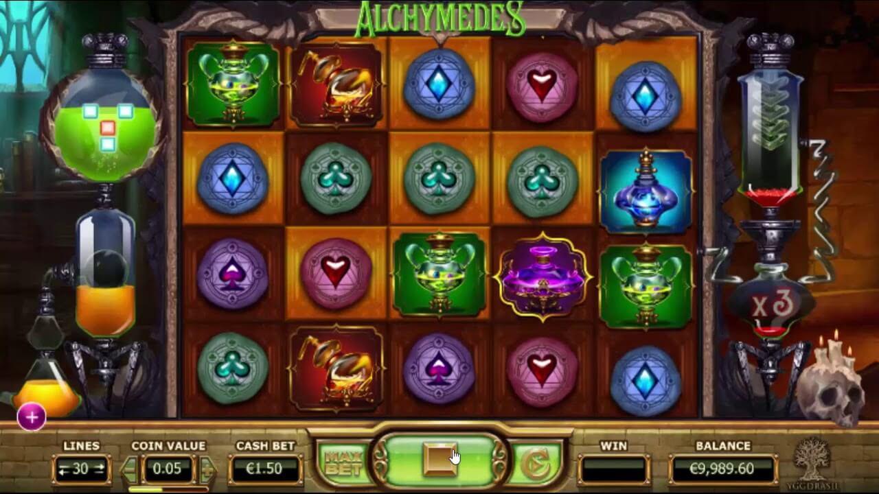 Alchymedes Slot Bonus