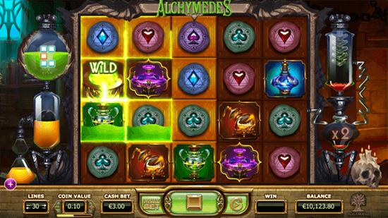 Alchymedes Slot Gameplay
