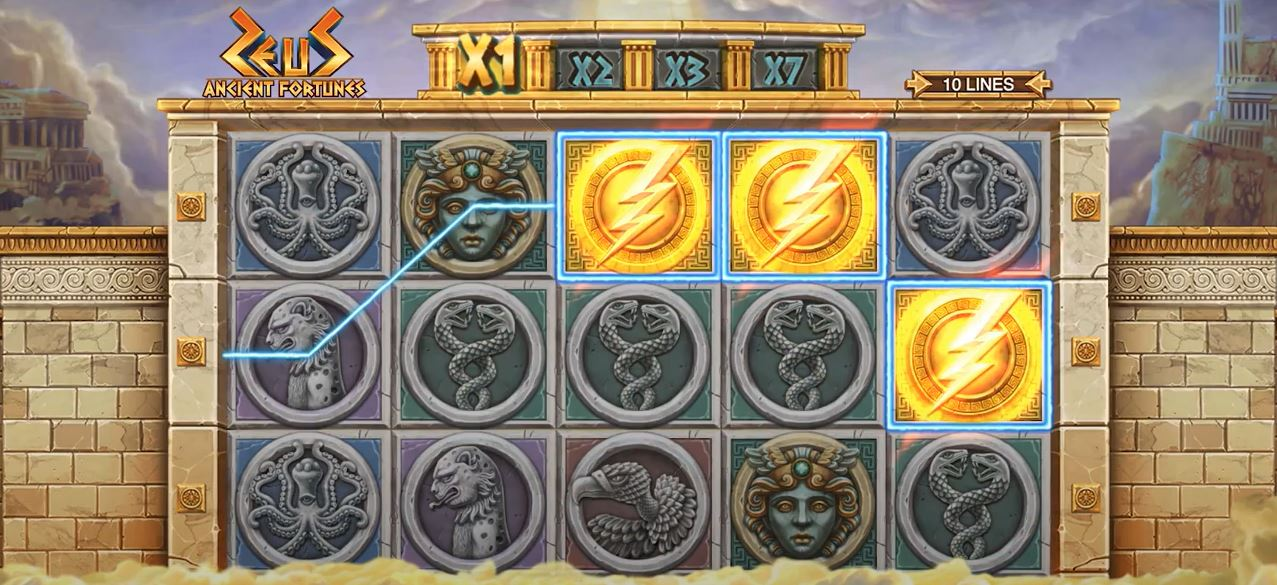 Ancient Fortunes Zeus Free Spins Activated