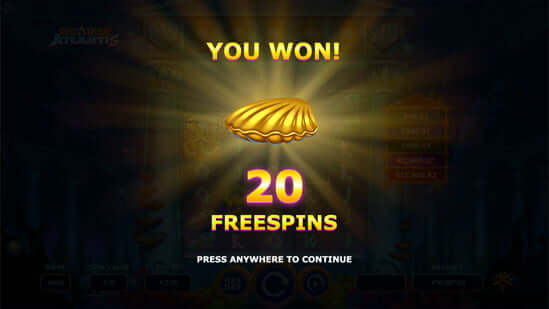 Atlantean GigaRise Free Spins