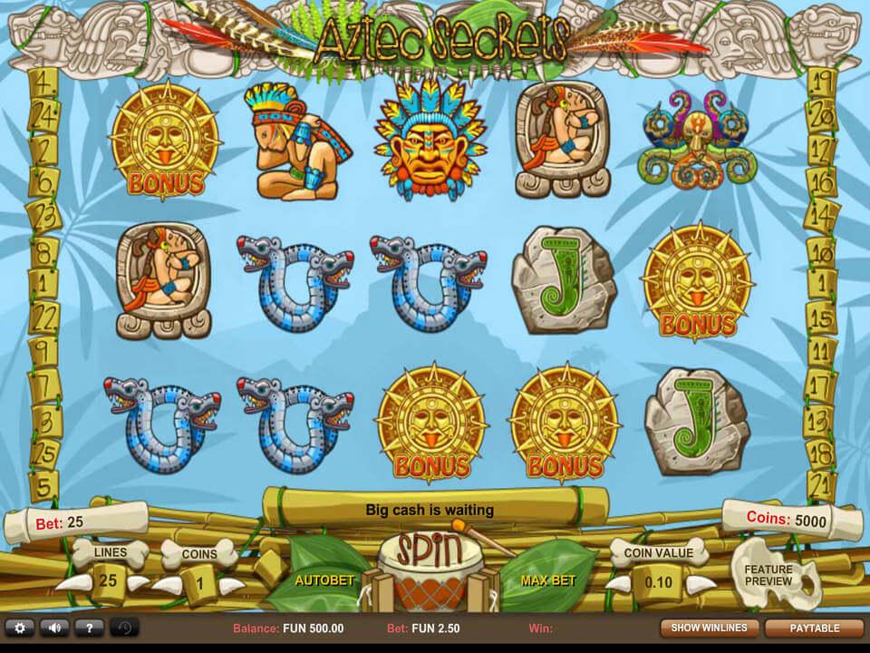 Aztec Secrets Slot Bonus