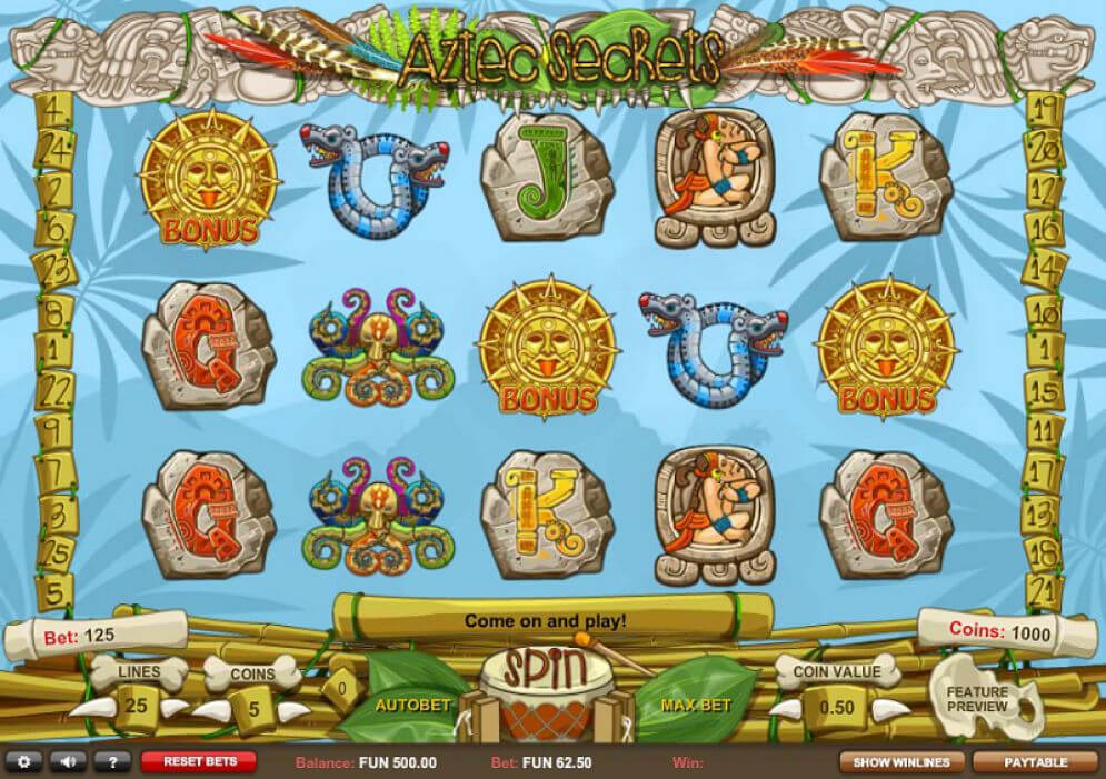 Aztec Secrets Slot Gameplay