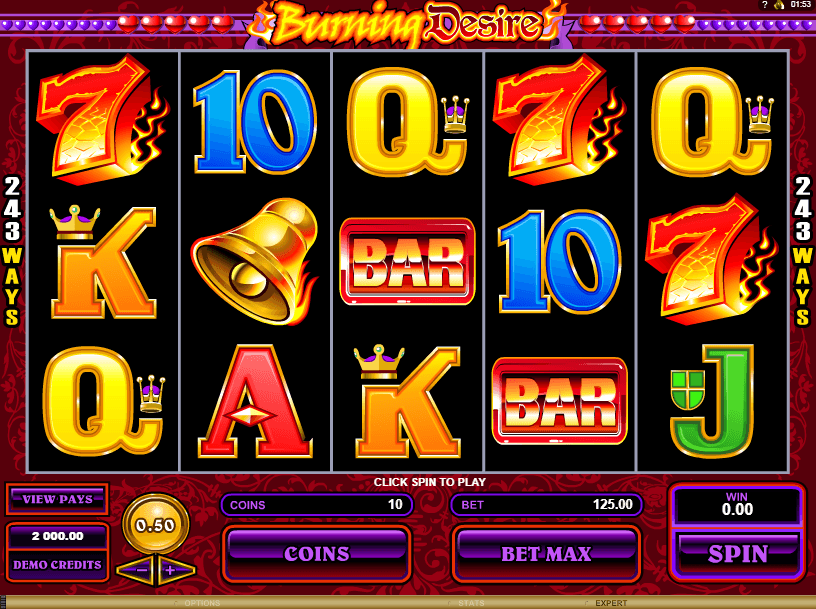 Burning Desire Casino Game