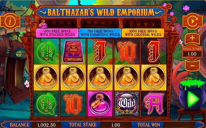 Balthazar's Wild Emporium Free Slots