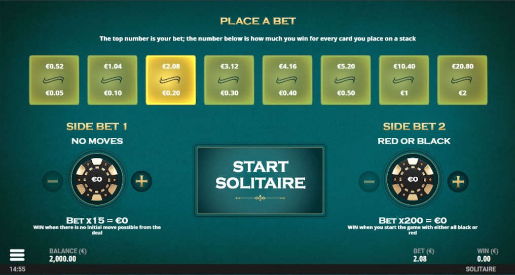 Casino Solitaire Slot Game Play