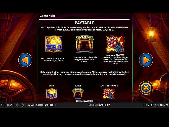 Eureka Reel Blast Super Lock Free Slots