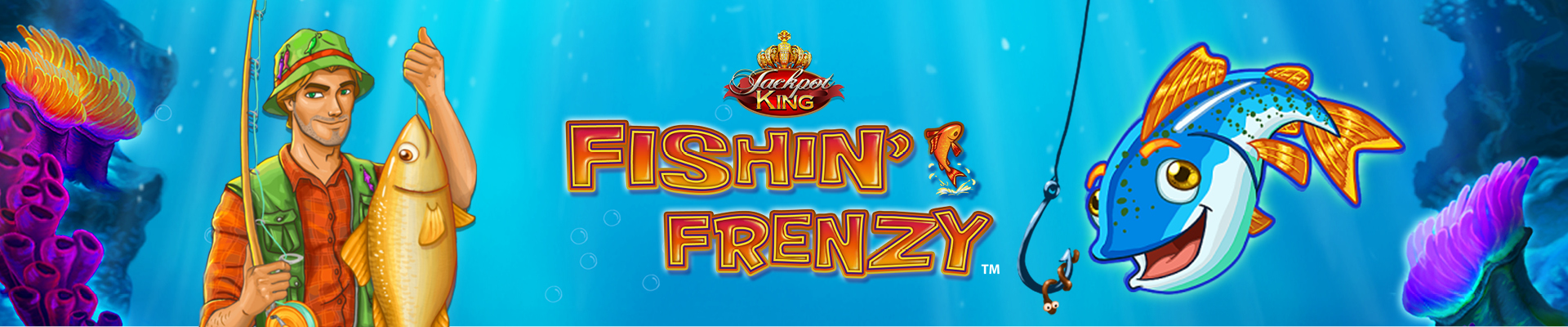 Fishin' Frenzy Jackpot King Slot Thor Slots