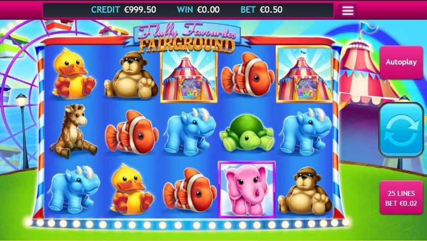 Fluffy Favourites Fairground Jackpot Slots