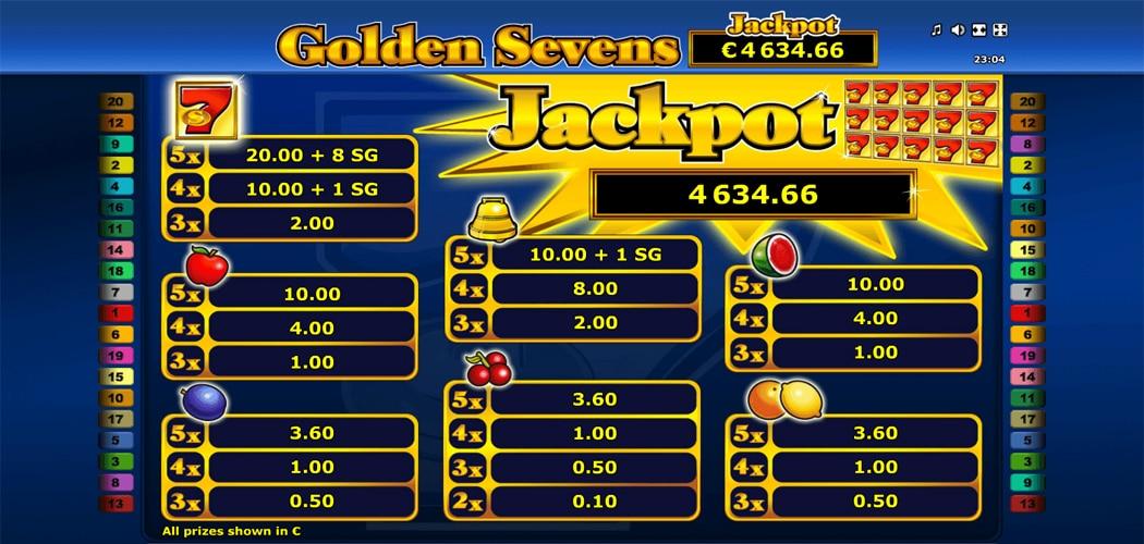 Golden 7s Free Slots