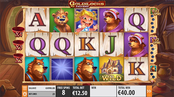 Goldiilocks gameplay casino