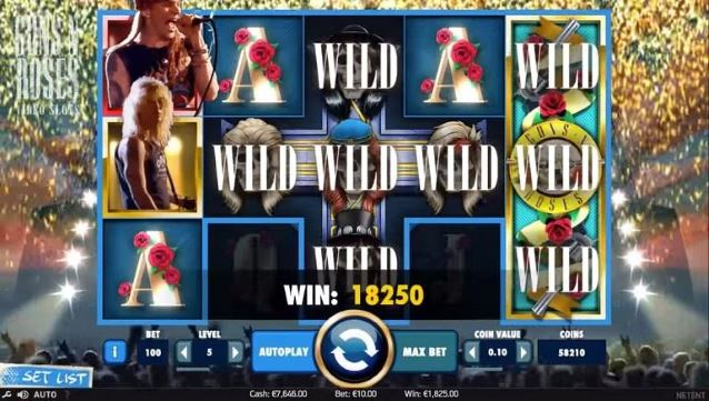 Guns and Roses Video Slot Gameplay