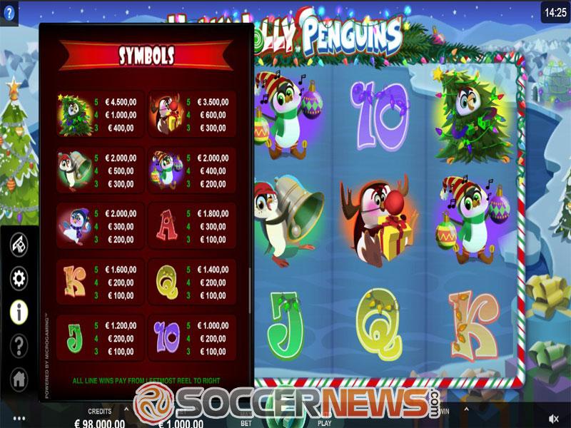 Holly Jolly Penguins Slot Symbols