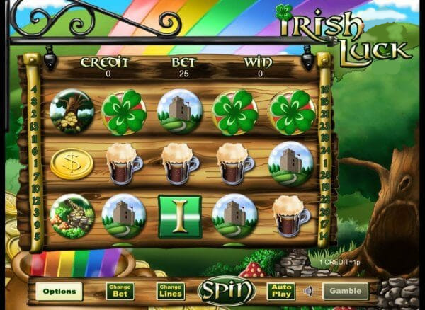 Irish Luck casino gameplay