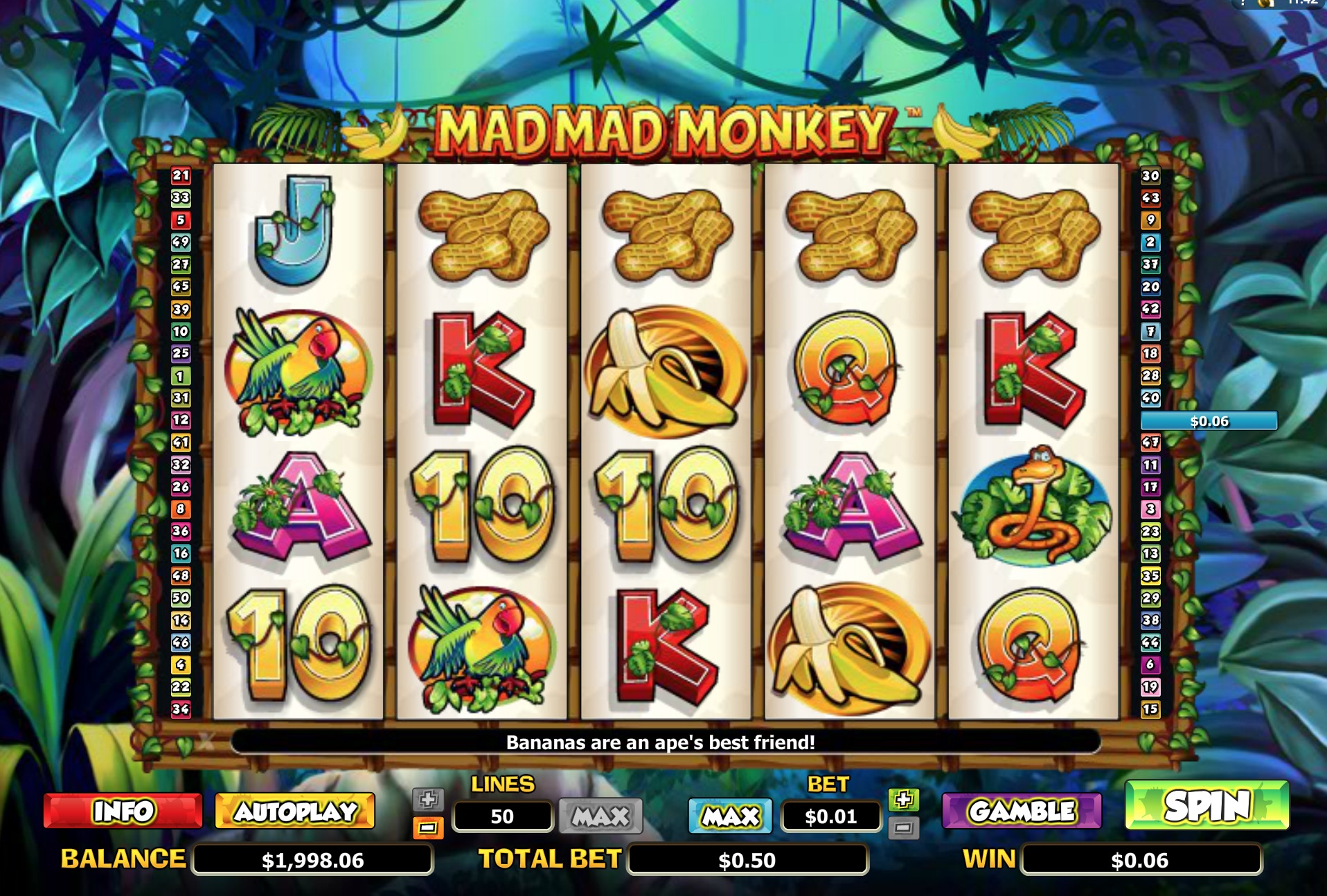 Gameplay of Mad Mad Monkey