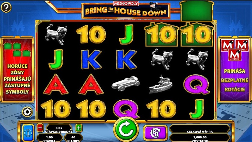 Monopoly Bring The House Down Slot Gameplay