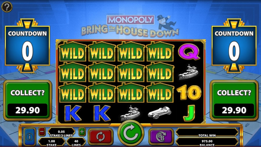 Monopoly Bring The House Down Slots Wilds