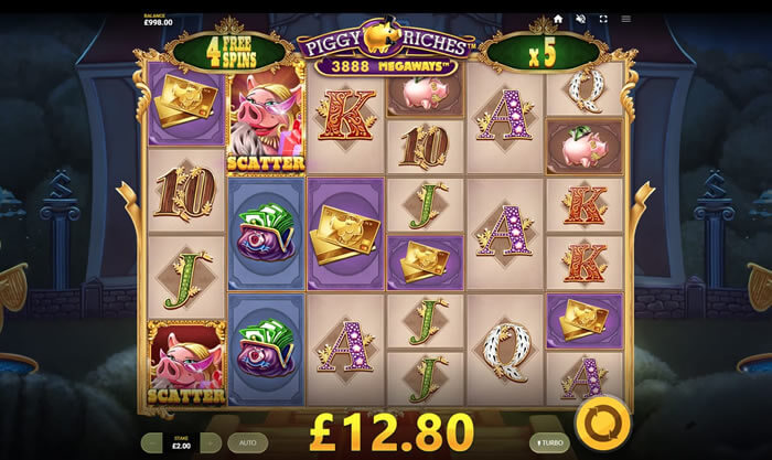 Piggy Riches Megaways Slot Online Gameplay