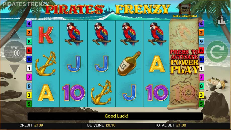Pirates Frenzy Casino Slot Online Bonus
