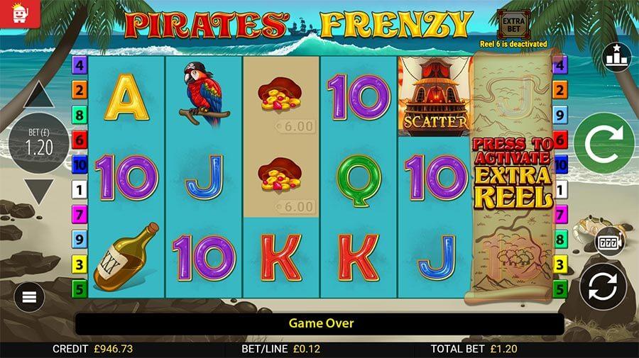 Pirates Frenzy Slot Gameplay