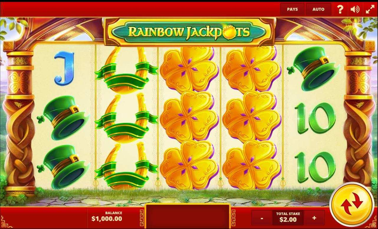 Rainbow Jackpots Slot Gameplay