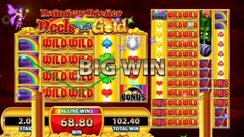 Rainbow Riches: Reels of Gold Slot Big Win