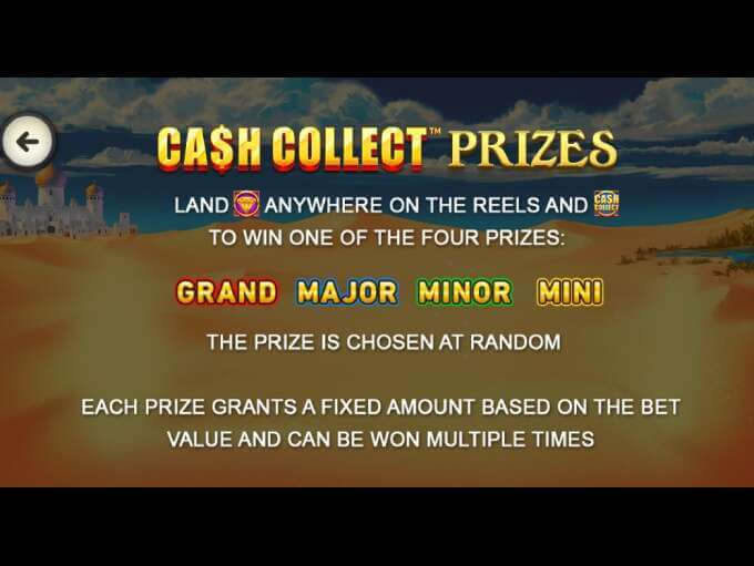 Sahara Riches Cash Collect Slot Prizes