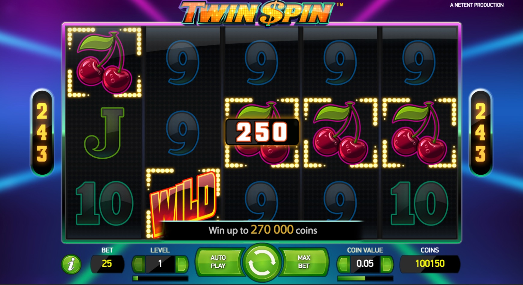 Twin Spins Win Example