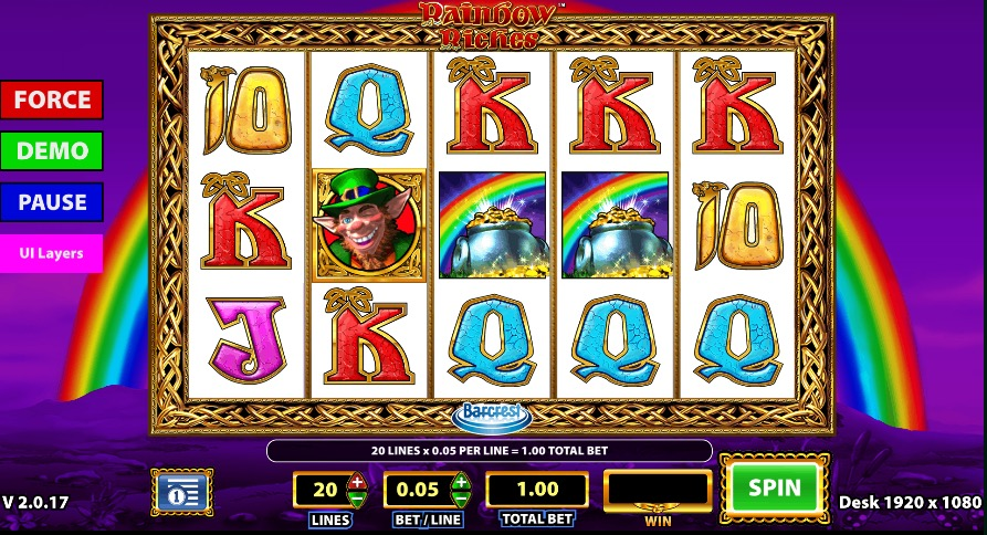 Rainbow Riches Gameplay