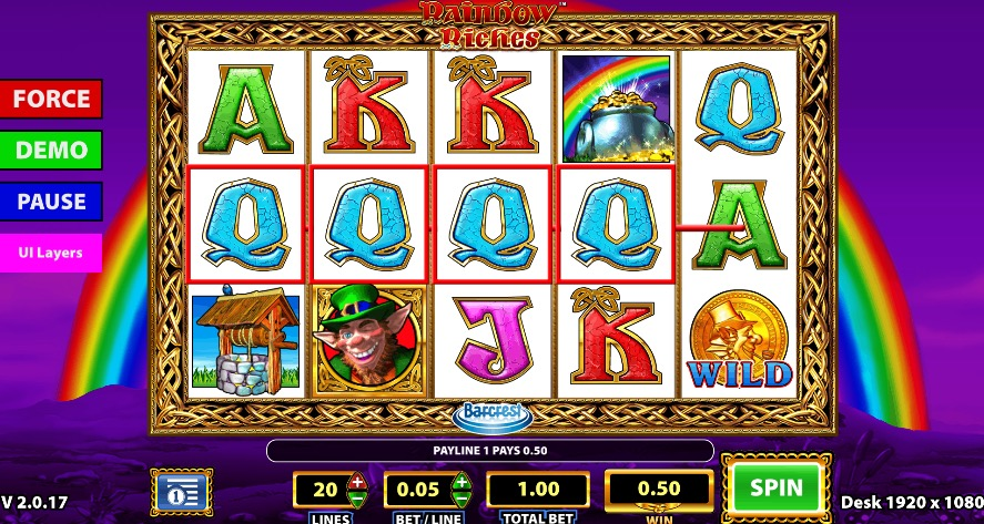 Rainbow Riches Win Example