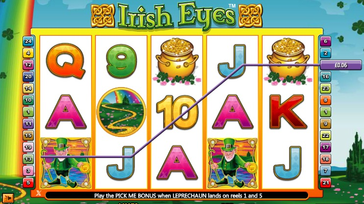 irish eyes win example