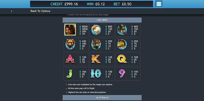 Shaman Spirit Jackpot Slot Symbols