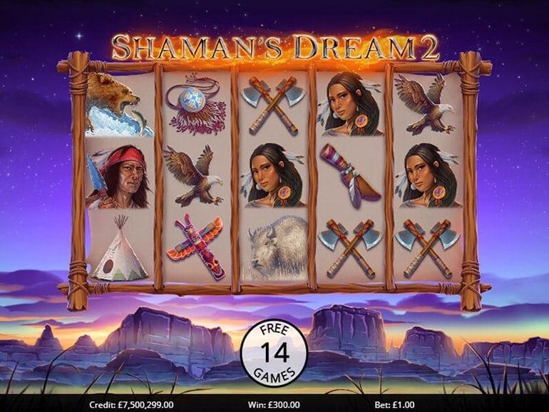 Shaman's Dreams 2 Slots Reels