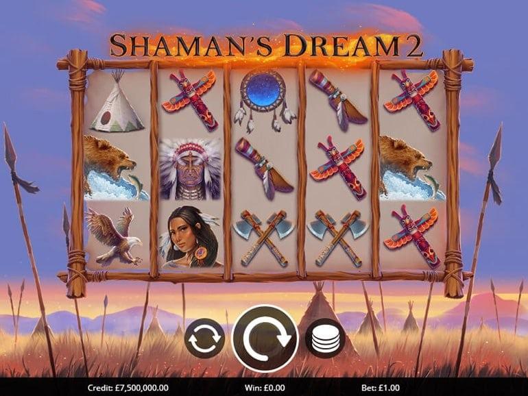 Shaman's Dreams 2 Slot Gameplay