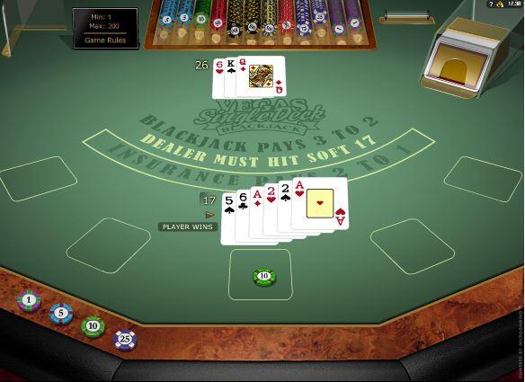 Vegas Single Deck Blackjack Casino