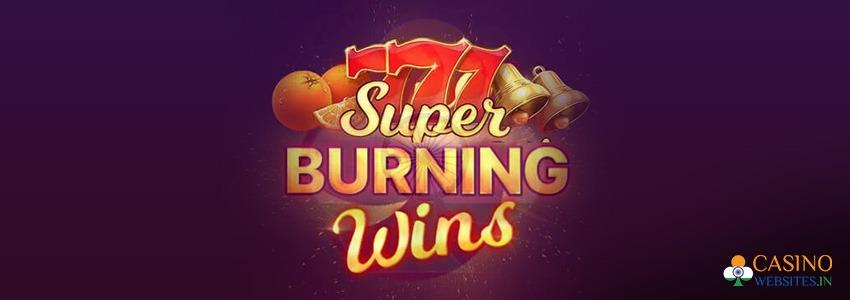 Super Burning Wins Slot Logo