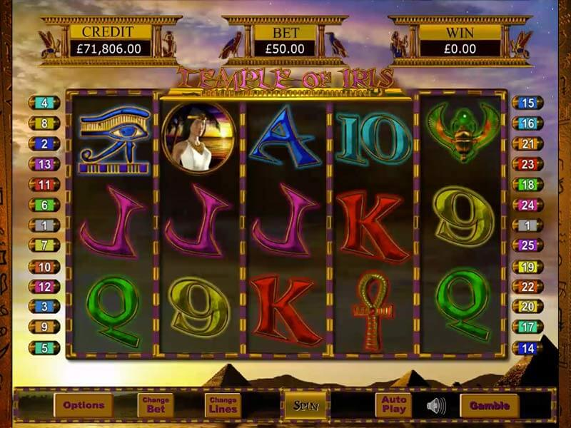 Temple of Iris Slot Bonuses