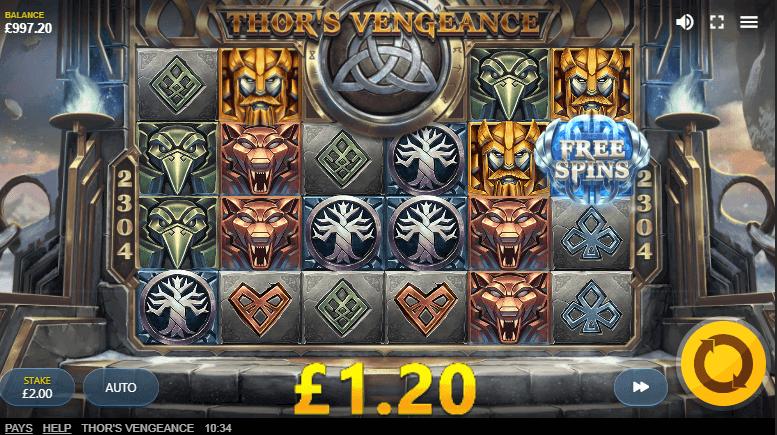 Thors Vengeance Slot Gameplay