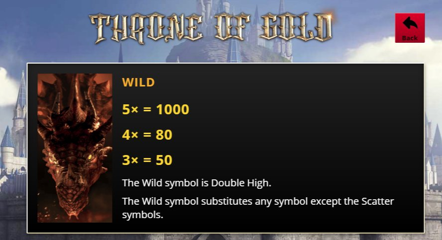 Throne of Gold Slot Wild Symbols