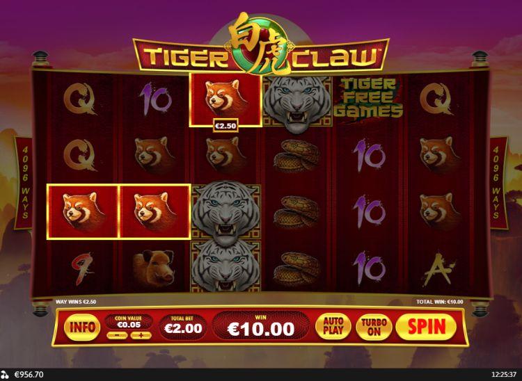 Tiger's Claw Slots Reels