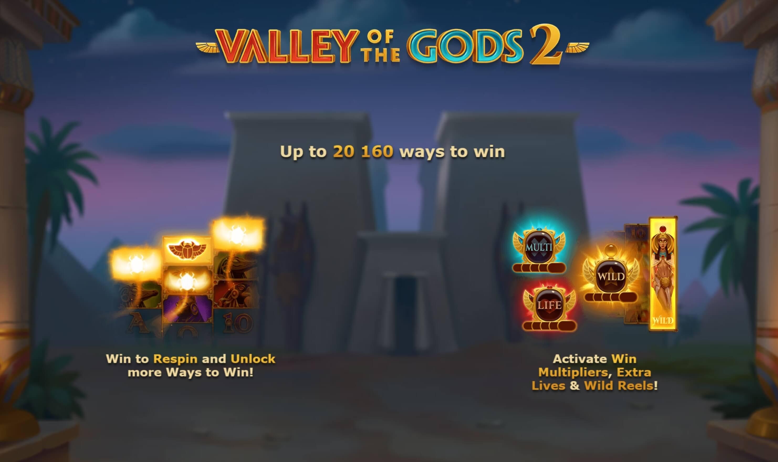 Valley of the Gods 2 Slot Bonus