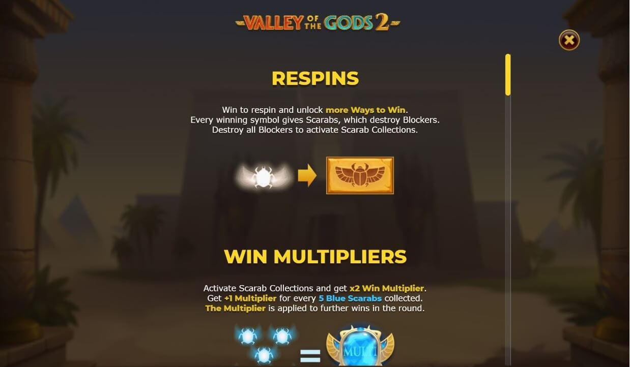 Valley of the Gods 2 Slot Respins