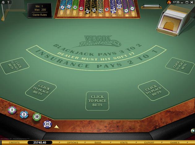 Vegas Downtown Blackjack Casino Game